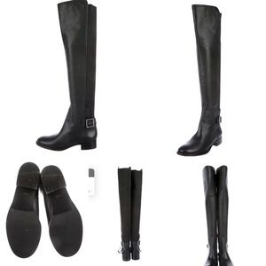 Tory Burch tall black leather boots